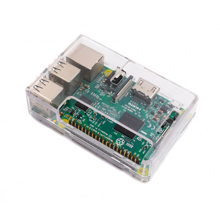 Raspberry Pi 3 Case (Transparent)