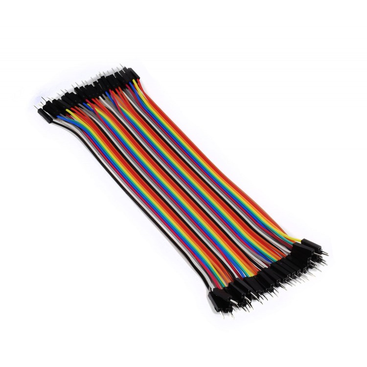 Breadboard Cables (40x 200mm, male to male, 2.54mm)