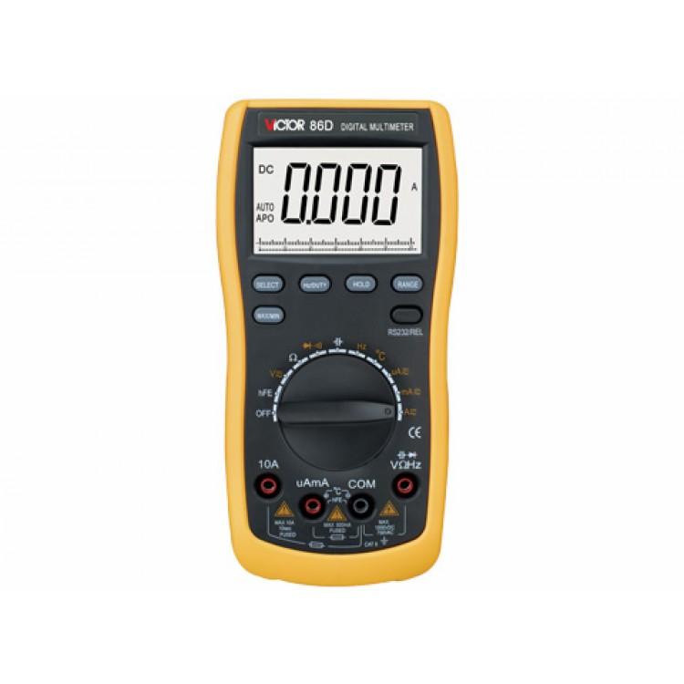 Multimeter Victor 86D (U,I,T,R,C, Autorange, USB)