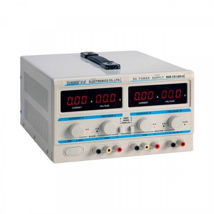 Linear Triple DC Power Supply RXN-3010D-II (2x, 0-30V, 0-10A, 1x5V)