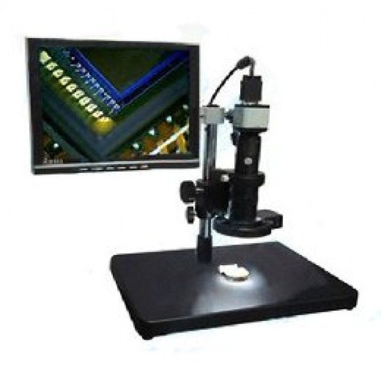 VGA Microscope with Display (2MP, 33-133x, 1024x768)