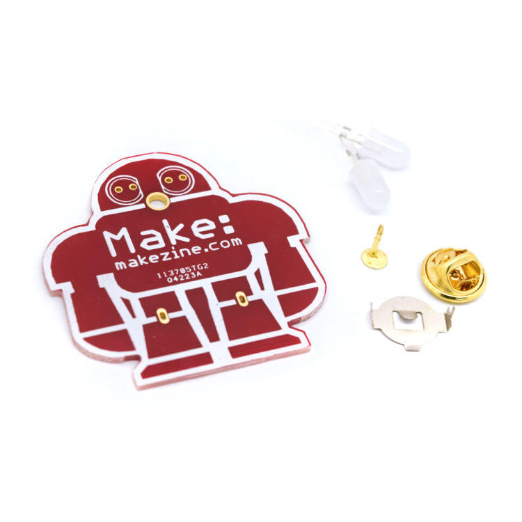 DIY Makezine Badge Solder Practice Kit (5pcs)