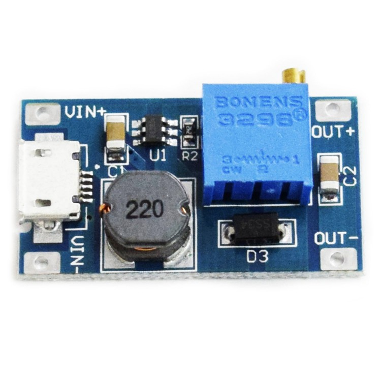 DC-DC step-up module MicroUSB
