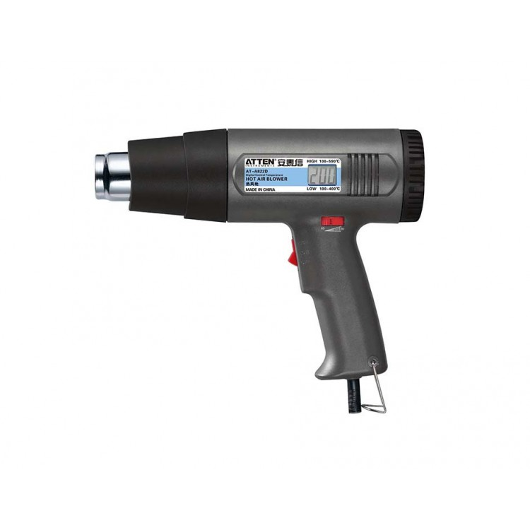 Hot Air Gun (100-160°C, Digital Display, 2 Grades of Air Flow)