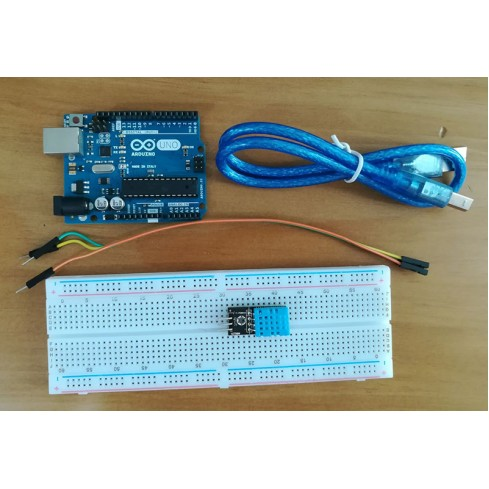 DHT11 Temperature and Humidity Sensor with an Arduino Uno