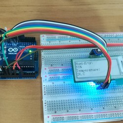 DHT11 Temperature and Humidity Sensor with an E-Ink Display Module