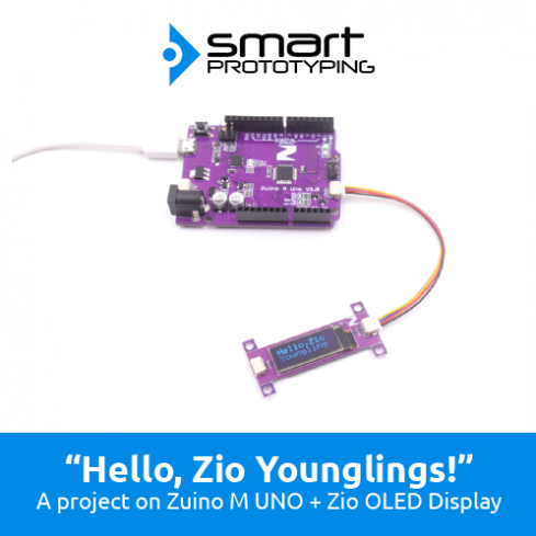 """Hello, Zio Youngling!""- Zio Qwiic OLED Display project, code explained."