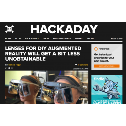 Lenses for DIY AR Headset (Hackaday)
