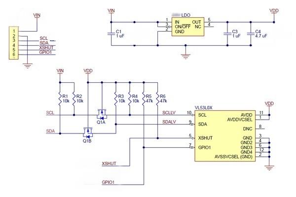 Vl53l0x Time Of Flight Distance Sensor