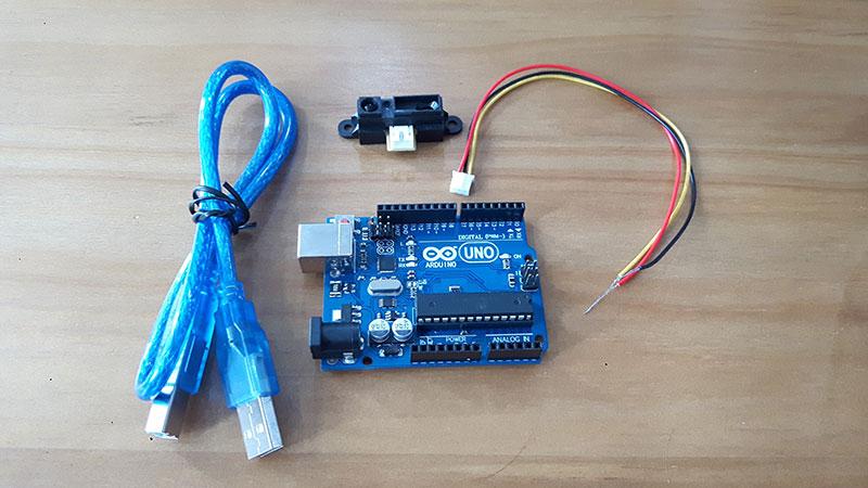 Sharp Distance Measuring Sensor GP2Y0A41SK0F Tutorial